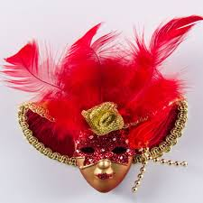 venetian mask magnet italy venetian mask dama di venezia wearing hat with