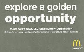 mcdonald u0027s application online job employment form