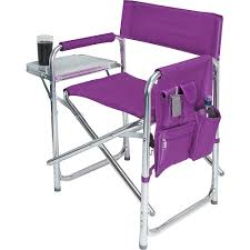picnic time purple sports portable folding patio chair chairs ebay