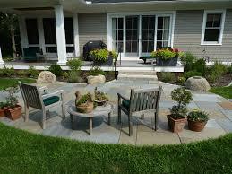 Patio Rocks Landscape Design Projects Backyard Patio Curves
