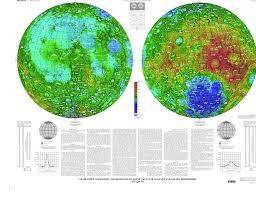 World Map Hemispheres by Moon Color Coded Topography And Shaded Relief Maps Of The Lunar