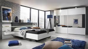 Schlafzimmer Mit Polsterbett Set Elissa Bett Nachttisch Schrank Weiß Graphit Mit Led