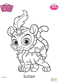 palace pets sultan coloring page free printable coloring pages