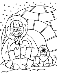 cute eskimo coloring pages get coloring pages