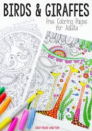 Easy Peasy Coloring Page | birds and giraffes coloring pages for grown ups easy peasy