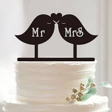 moon cake topper personalized wedding cake toppers bird with mr mrs bird with moon