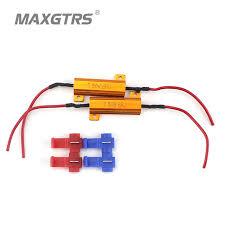 load resistors for led lights 2x universal add on 50w 6 8 ohm led load resistor car led light