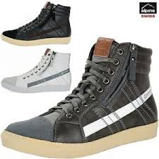 shoes s boots alpine swiss reto mens high top sneakers lace up zip ankle boots