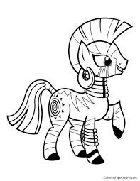 my little pony u2013 zecora 01 coloring page coloring page central