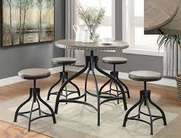 adjustable height c table kenneth 5 piece adjustable height table and 4 bar stools table bar