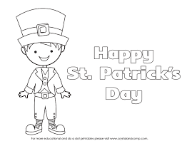 kid color pages st patrick u0027s