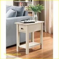 white wood end table side table with charging station end for agreeable cvid