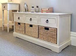 Tall Storage Bench Bedroom Merton Shoe Storage Bench 3 Drawer Cupboards Hallway With