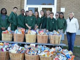 edgarton christian academy s thanksgiving food drive supports families