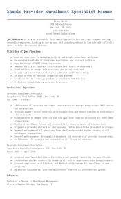 personnel specialist sample resume sample provider enrollment specialist resume resame pinterest