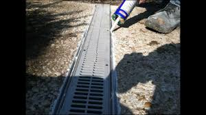 front yard concrete drain installation in hanover pa 17331