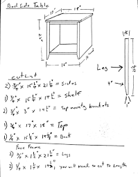 bedside table how to build u0026 free design plans jon peters art