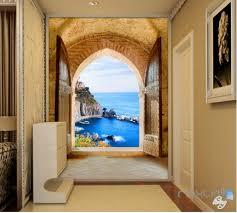 beach tropical wall murals idecoroom 3d beach island ocean arch entrance wall decal home gift 002