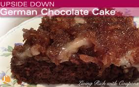 german chocolate upside down surprise cake recipe u2014 dishmaps