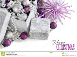 silver and purple ornaments stock photo image 63378327