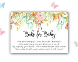 bring a book instead of a card baby shower vintage flower baby shower bring a book instead of a card