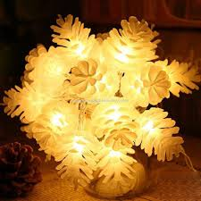 Promotional 14 8Ft Pine Cone Decorative String Lights Warm White