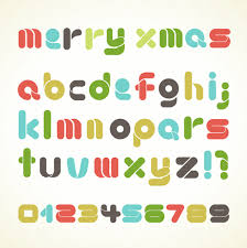 christmas alphabet letters design vector set 04 vector christmas