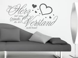 Schlafzimmer Wandtattoo Wandtattoo Sprüche Das Herz Hat Seine Gründe Wandtattoo Bilder De