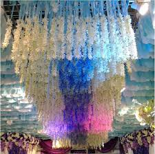 new arrival white artificial hanging orchids plants silk flower