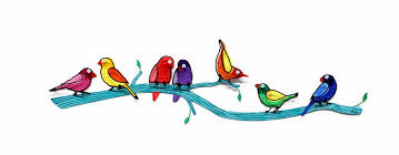 birds on branch colorful metal wall sculpture by tzuki tzuki