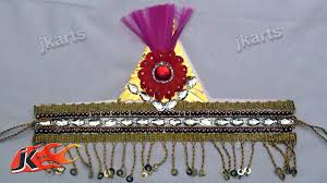 diy how to make mukut crown designer tiara jk arts 154 youtube