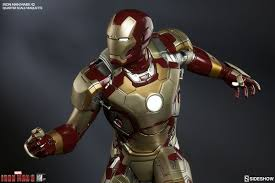 Iron Man Marvel Iron Man Mark 42 Quarter Scale Maquette By Sideshow C