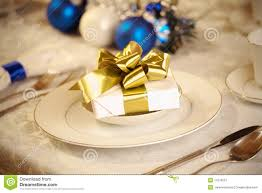 Black Blue And Silver Table Settings Elegant Blue And White Christmas Table Setting Stock Image Image