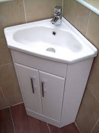 Cloakroom Vanity Sink Units Small Corner Vanity Unit With Basin The Burlington Matt White