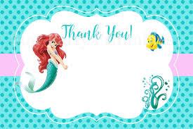 little mermaid birthday cards free printable invitation design