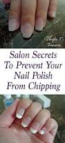 salon secrets how to keep your nail polish from chipping nail