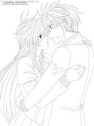 anime couple coloring pages chuckbutt com