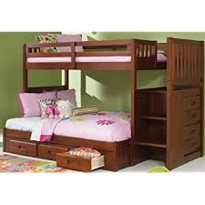 amazon com bedz king stairway bunk bed twin over full with 4