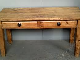 Antique Pine Farmhouse Kitchen Table Antiques Atlas - Farmhouse kitchen table with drawers