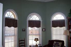 Inside Mount Window Treatments - blind u0026 curtains valances arched windows in bay inside mount