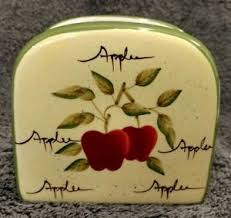 apple orchard collection home interiors new with tag ceramic napkin holder apple orchard collection