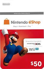 nintendo eshop gift card ecash nintendo eshop gift card 50 switch wii u 3ds digital