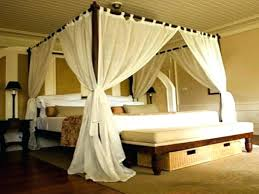 Curtains For Canopy Bed King Size Canopy Bed With Curtains Dynamicpeople Club