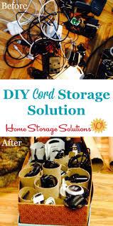 cable u0026 cord storage ideas u0026 organization tips