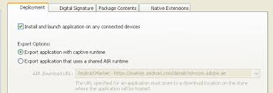 adobe air apk flex could not be able to run air apk file on android emulator