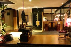chinese house decor idea with nice flower decor oriental house