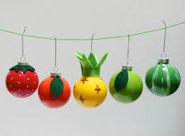 diy food themed ornaments for your tree