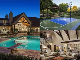 cool houses with pools march madness homes with basketball courts for sale photos abc news