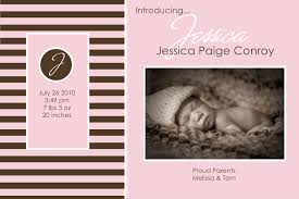 pink color scheme beautiful baby birth announcement with brown and pink color scheme