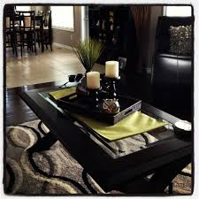 Tray Coffee Table by Coffee Table Decor Like The Pop Of Color Under The Tray
